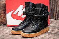 Кроссовки женские Nike Air Force, черные (1029-1),  [   37,5 38  ]