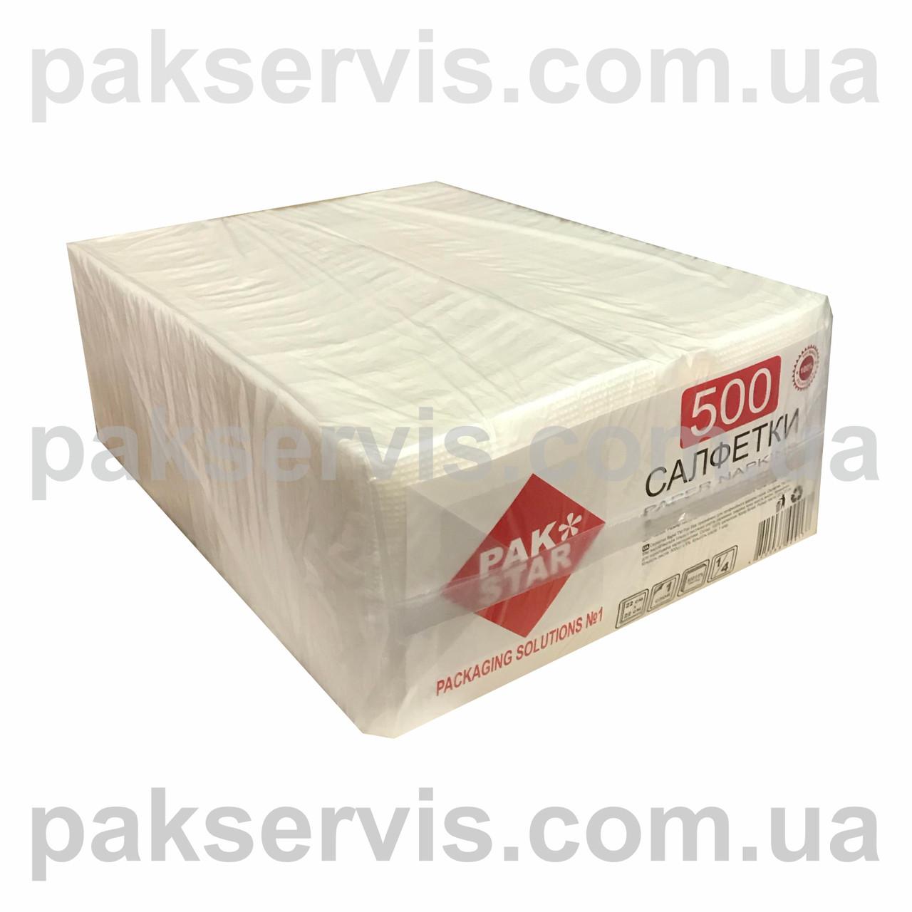 Салфетка барная PAK STAR белая 500шт. 1/5