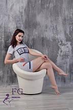 """Приталенное летнее женское спортивное мини платье, с рукавом и принтом """"New York"""", белое, фото 3"""
