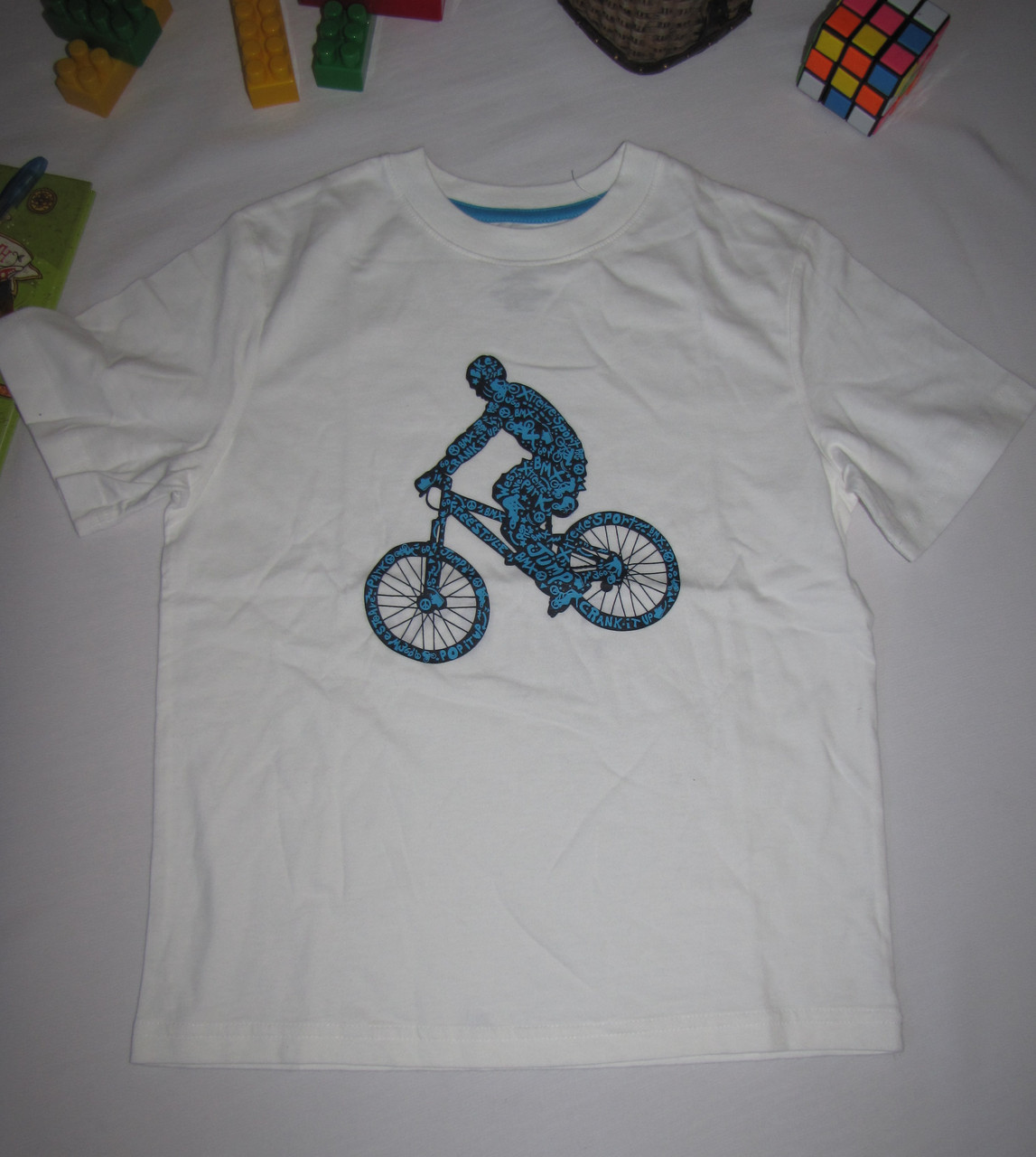 Футболка Circo Велосипедист рост 116 см белая 07096