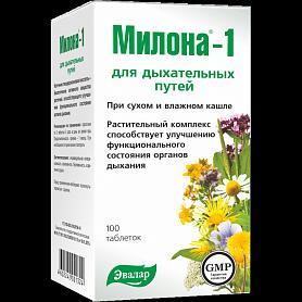Милона-1 для дыхательных путей  Эвалар  100 таблеток по 0,5 г
