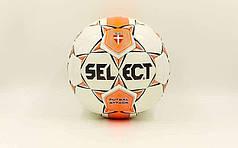 Мяч футзальный №4 SELECT FUTSAL  Club training (FPUS 1100, белый-оранжевый-черный)