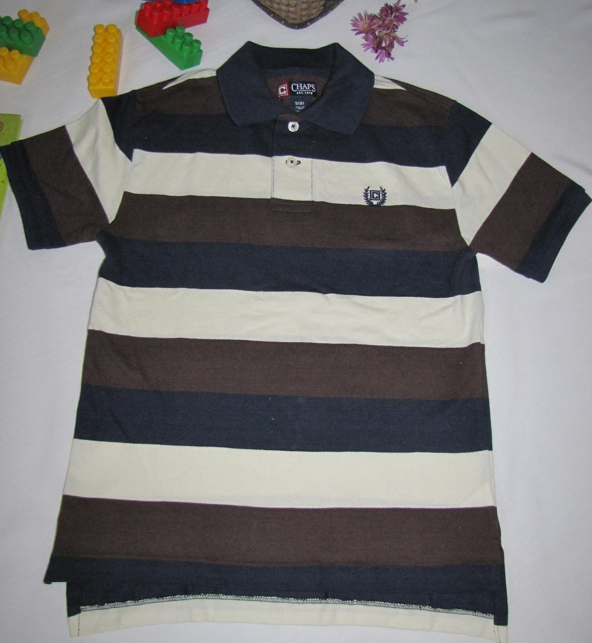 Футболка Сhap's оригинал рост 128 см темно синяя+коричневая 07100