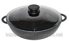 Сковорода «WOK» Биол 0526С (диаметр 260; 3 л) чугун, крышка
