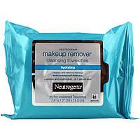 Neutrogena, Очищающие салфетки для снятия макияжа, Увлажнение, 25 влажных салфеток