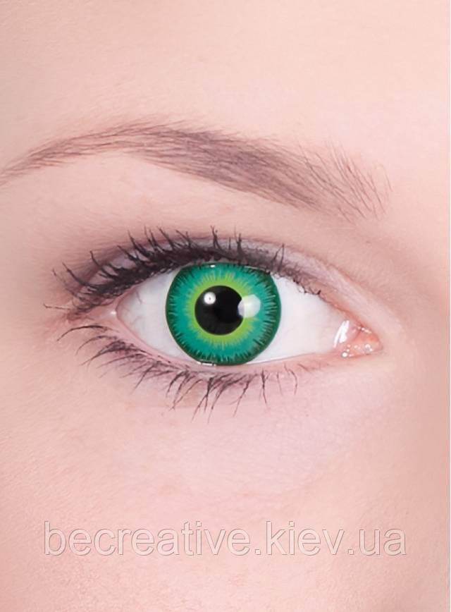Зеленые декоративные линзы