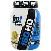 BPI Sports, ISO HD, 100% Протеиновый Изолят и Гидролизат, Ванильное печенье, 1,6 фунта (740 г)