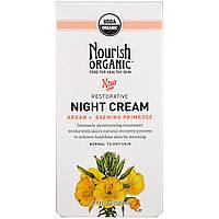 Nourish Organic, Восстанавливающий, ночной крем, арган + вечерняя примроуз, нормальная и сухая кожа, 50 мл (1,7 унции)