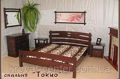 """Кровать """"ТОКИО"""". Массив - сосна, ольха, дуб."""