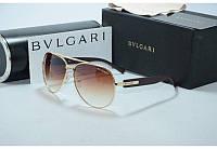 Сонцезахисні окуляри Bvlgari Булгарі з янтарним відливом (репліка)