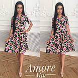 Женское легкое платье до колен с юбкой-солнце (5 цветов), фото 10