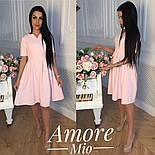 Женское легкое платье до колен с юбкой-солнце (5 цветов), фото 4
