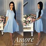 Женское легкое платье до колен с юбкой-солнце (5 цветов), фото 6
