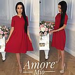 Женское легкое платье до колен с юбкой-солнце (5 цветов), фото 7