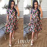 Женское легкое платье до колен с юбкой-солнце (5 цветов), фото 9