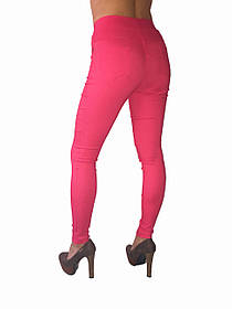 Женские брюки стрейч джинс коралловые