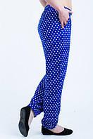 Женские летние брюки-штаны в горох, фото 1