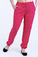 Женские летние брюки-штаны в горохТкань штапель , фото 1
