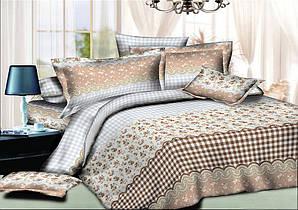 Двуспальный комплект постельного белья евро 200х220 хлопок  (7906)