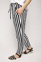 Женские летние брюки-штаны в полоску, ткань штапель, фото 1
