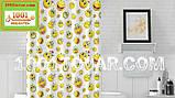 """Тканевая шторка для ванной комнаты из полиэстера """"Emoji"""" (Эмоции, смайл)  Jackline, размер 180х200 см., Турция, фото 2"""