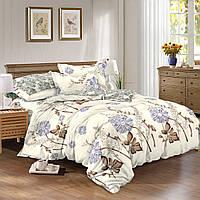 Двуспальный комплект постельного белья евро 200*220 сатин (9035) TM KRISPOL Украина