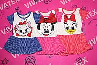 Платье для девочек Микки завязки кулир, фото 1