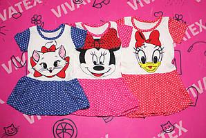 Платье для девочек Микки завязки кулир