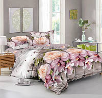 Полуторный комплект постельного белья 150*220 сатин (9444) TM КРИСПОЛ Украина