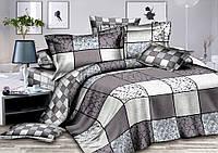 Двуспальный комплект постельного белья евро 200*220 сатин (9462) TM КРИСПОЛ Украина