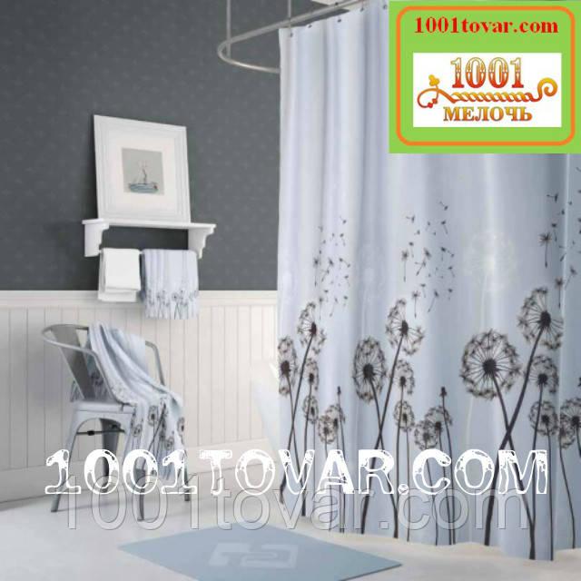 """Тканевая шторка для ванной комнаты из полиэстера """"Dandelli"""" (одуванчики)  Jackline, размер 180х200 см., Турция"""