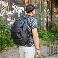 Рюкзак кожаный мужской черный городской J-Town