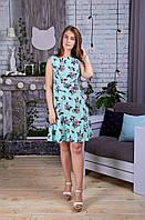Модное летнее женское платье с поясом обманкой (НН-030)
