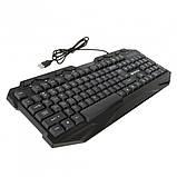 Клавиатура мультимедийная с LED подсветкой FANTECH K10 HUNTER, USB, фото 6