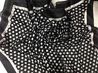 Чёрно белое парео-платок с добавкой натурального шёлка