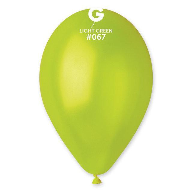 """Латексные шары Металлик Салатовые 10"""" (25-26 см), 100 штук ТМ Gemar"""