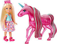 Barbie Кукла Барби Челси и Единорог Дримтопия Dreamtopia Chelsea Doll and Unicorn FPL82, фото 1