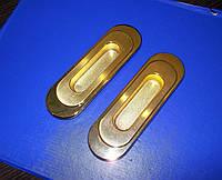 Врезные ручки мат. золото на раздвижные двери, шкаф-купе, фото 1
