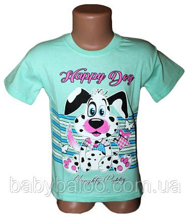 "Классная футболка для девочки ""Happy Dog""(от 3 до 7 лет) , фото 2"