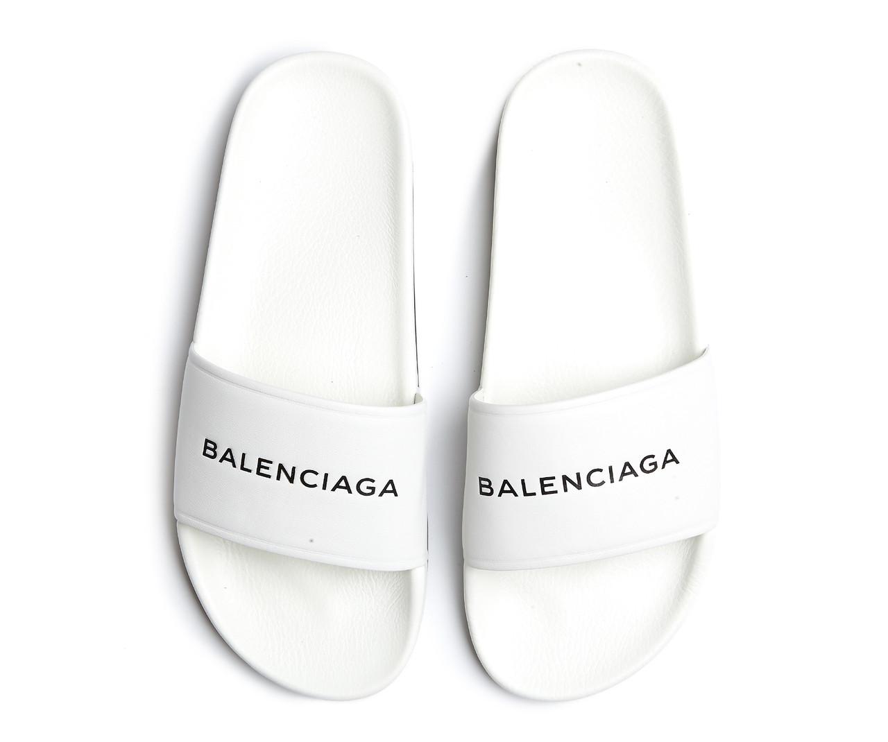 227b2055 Женские шлепанцы, сланцы Balenciaga Slippers White (Баленсиага, белые) -  Магазин обуви Brand