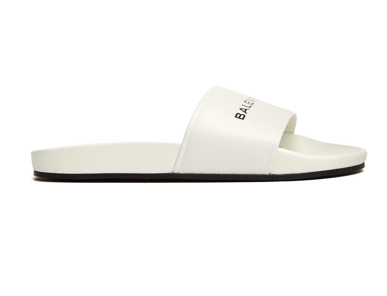 729bc953 Женские шлепанцы, сланцы Balenciaga Slippers White (Баленсиага, белые),  цена 1 150 грн., купить в Киеве — Prom.ua (ID#700993598)