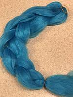 Канекалон однотонный голубой