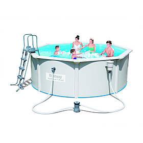 Сборной бассейн Bestway Hydrium 56571 (360x120 см) с картриджным фильтром