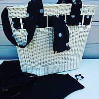 Плетеная пляжная сумка, фото 1