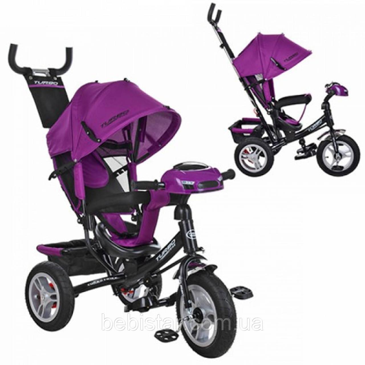"""Детский трехколесный велосипед """"Turbo Trike"""" с музыкальной панелью и фарой, цвет: фиолетовый"""