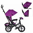 """Детский трехколесный велосипед """"Turbo Trike"""" с музыкальной панелью и фарой, цвет: фиолетовый, фото 2"""
