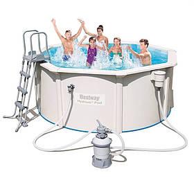 Сборной бассейн Bestway Hydrium 56566 (300x120 см) с песочным фильтром