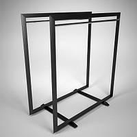 Вешалка-стойка для одежды напольная металлическая. Вешало. Торговое оборудование мебель для магазина