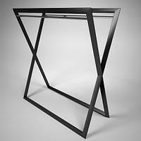 Вешалка-стойка для одежды напольная металлическая. Вешало. Торговое оборудование для магазина одежды