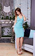 Женское платье с лентами и шнуровкой по бокам (АК-034)